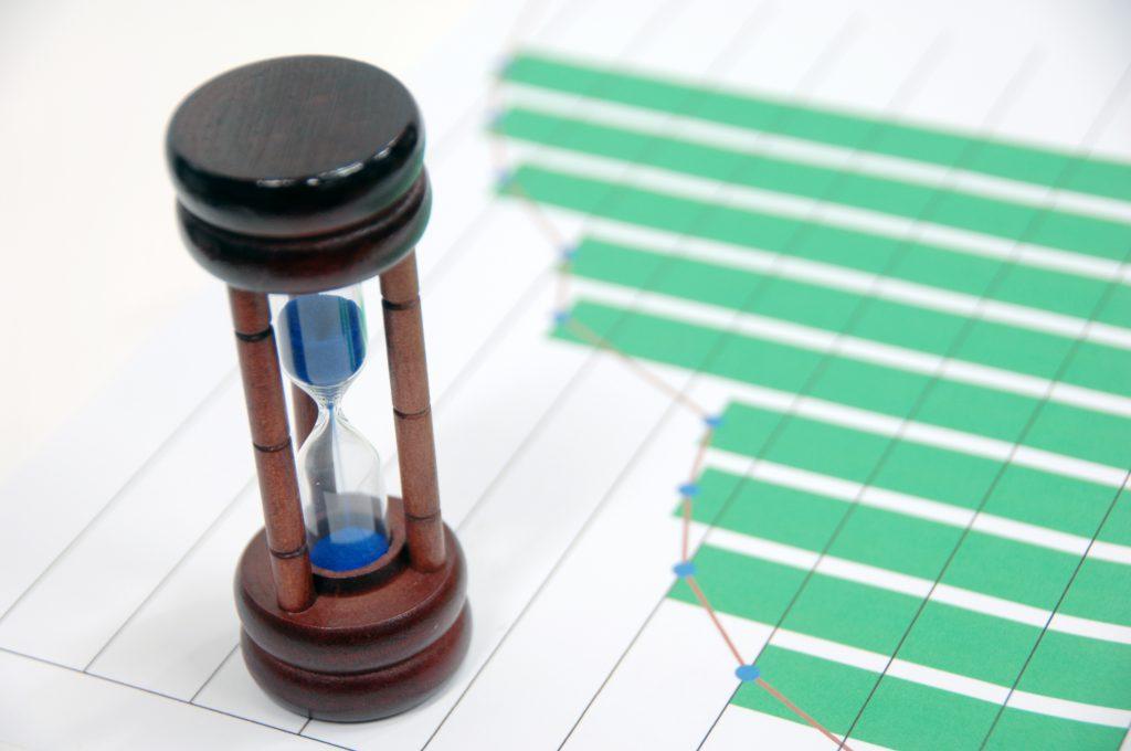 プロジェクト管理手法の時間を表しているイメージ